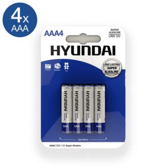 Super Alkaline AAA-Batterijen - 4 Stuks