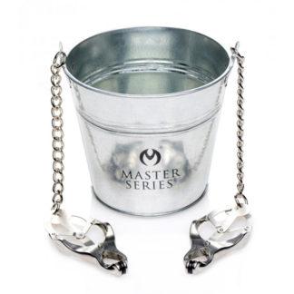 Slave Bucket Met Tepel-/Schaamlipklemmen